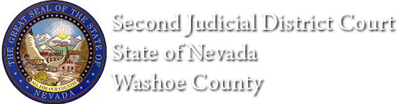 Second Judicial District Court with Nevada Seal